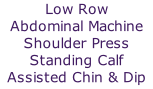 Low Row 